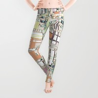 plaid ABSTRACT MODERN, textile, wall, wear ART Leggings by ACKelly