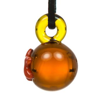 Boo Glass Dragon Ball Themed Pendant
