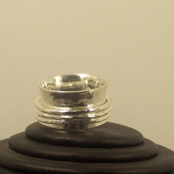 Spinner Silver Ring , Handmade for Meditation or relieving Stress.Unisex.Wedding.Handcrafted Jewelry. SR 103