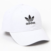adidas Washed White Strapback Dad Hat at PacSun.com