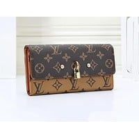 Louis Vuitton LV Popular Women Leather Buckle Wallet Purse 2#