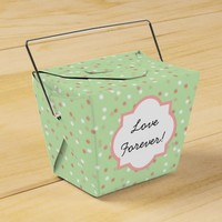 Confetti Cake • Green Buttercream Frosting Favor Boxes