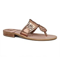 Exclusive West Hampton Sandal in Rose Gold by Jack Rogers