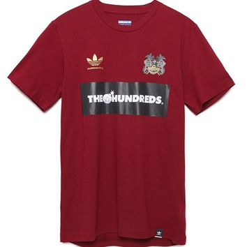 Adidas - The Hundreds Mock Jersey T-Shirt - Mens Tee - Red