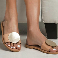 Cozy flat summer sandals. Let the summer breeze caress your feet with these beautiful and lightweight designed shoes, Greek sandals