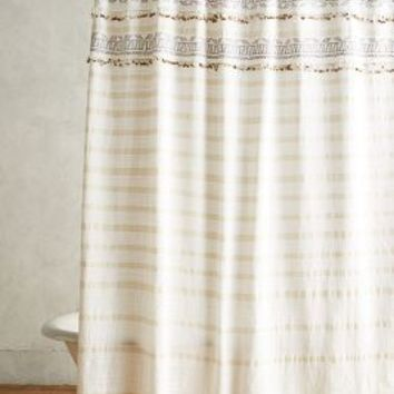 Atessa Shower Curtain by Anthropologie in Neutral Motif Size: One Size Shower Curtains