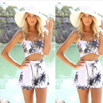 Sexy Print Backless Hot Sale Women's Fashion Romper [6315487745]