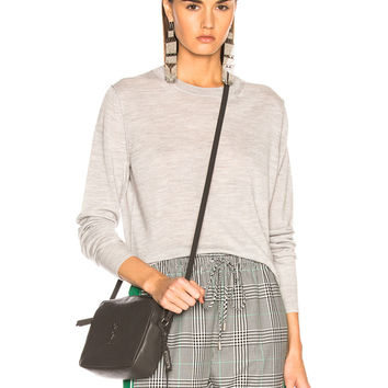 Acne Studios Norma Sheer Sweater in Light Grey Melange | FWRD