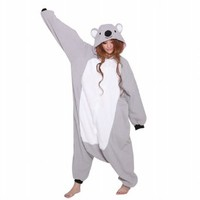 Ferrand Kigurumi Pajamas Unisex Adult Cosplay Costume Animal Pyjamas Grey Koala S