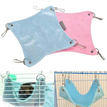 Warm Plush Cloth Hamster Chinchilla Hammock Guinea Pig Rabbit Hanging Bed Cage Accessories J2Y
