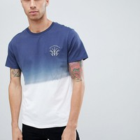 Burton Menswear t-shirt in navy dip dye at asos.com
