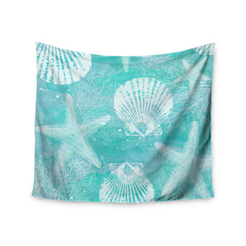 "Sylvia Cook ""Seaside"" Blue Teal Wall Tapestry"
