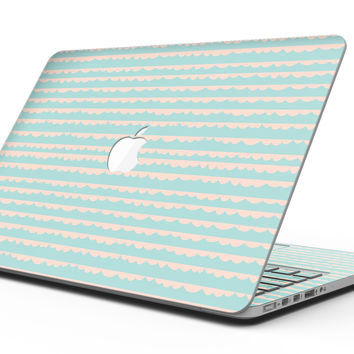 The Teal and Coral Striped Patttern - MacBook Pro with Retina Display Full-Coverage Skin Kit