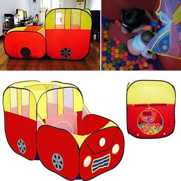 Large Sports Car Shape Play Tent for Kids House Play Hut Children Ocean Balls Pit Pool Indoor Outdoor Garden Playhouse