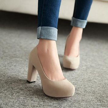 Chunky Office Heels