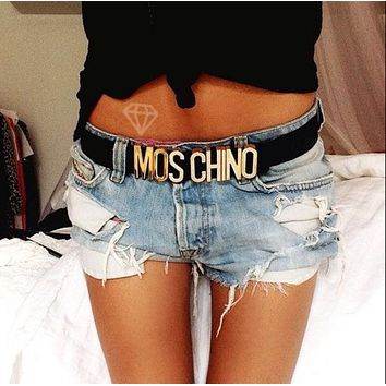 MOSCHINO letters Belt fashion wild candy candy belt F