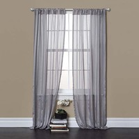 Lush Decor C16985P13-000 Rhythm Gray 84 x 40-Inch Window Curtain Panel Pair