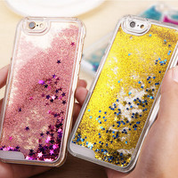 Shining Slide Quicksand Case Cover for iPhone 7 se 5s 6 6s Plus Samsung Galaxy S6 + Gift Box-158