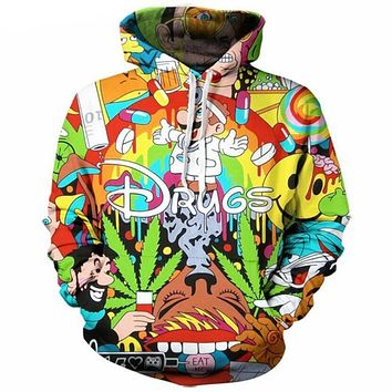 Drugs Cartoon Print