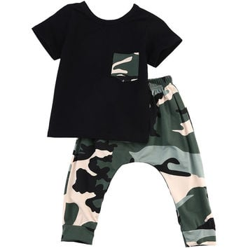 Camo Printed Baby Shirt and Pants 2pc set