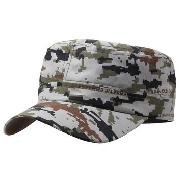 Marine Corps Hat Camouflage Flat Top Cap Men patriot Baseball Cap US Air Force Club Navy Poster Commando Hats W