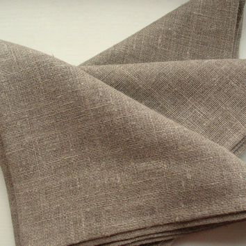 "Linen Napkins Cloth Napkins Wedding Napkins Napkin Ring Holders Gray Linen Napkins Gray Napkins Prewashed Linen - set of 20 size 12"" x 12"""