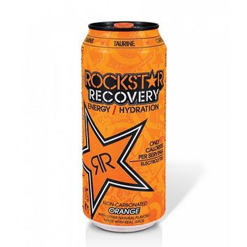 Rockstar Recovery Orange Energy Drink 16 Oz Cans - Case of 24
