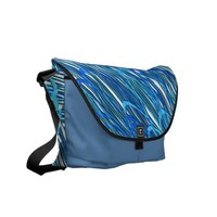 Blue Curves Messenger Bag