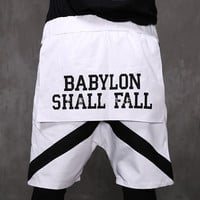 XQUARE 23 Babylon Skirt Paneled Shorts