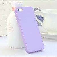 YouVogue (TM) Soft Gel TPU Rubber Skin Cover Case Compatible with Apple® iPhone® 5, Light Purple Jelly