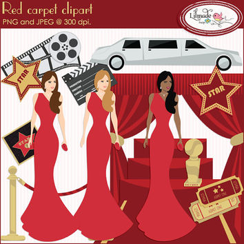 Red carpet clipart, Hollywood clipart, Oscar ceremony clipart, Grammy awards clipart, celebrity clipart, movies clipart, P110
