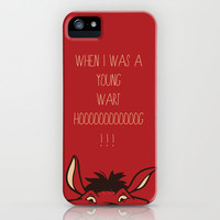 Pumba Lion King iPhone Case by Daniel Devoy | Society6