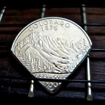 Colorado Coin Guitar Pick-- Colorado State Quarter