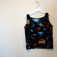 Nebula space tank top shirt Small