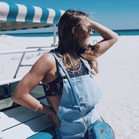 Austin Nights Denim Overall Dress