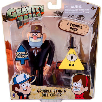 Grunkle Stan & Bill Cipher Action Figure 2-Pack 3 Inch Disney
