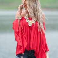 Fill Me with Ruffles Layered Bell Sleeve Top