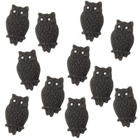 Mini Black Fondant Owls