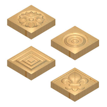 Classic style wood rosette, door trim blocks, window trim block, corner blocks, home improvement rosette blocks, carving wood, wooden decor
