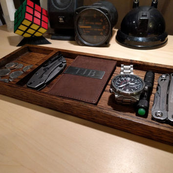 Solid Oak Valet Tray
