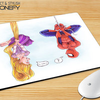 Disney Tangled And Spiderman Mousepad Mouse Pad|iPhonefy