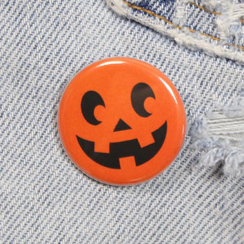 Jack O Lantern 1.25 Inch Pin Back Button Badge