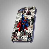 Superman - Man Of Steel - Marvel Comic - KCB 039 - Design on Hard Cover - iPhone 4 / 4S Case, iPhone 5 Case ( Black / White / Clear )
