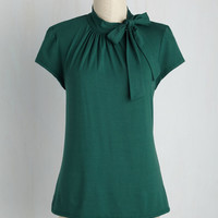 Advert Yourself Top in Forest   Mod Retro Vintage Short Sleeve Shirts   ModCloth.com