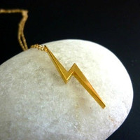 gold lightning bolt necklace-lightning bolt necklace-lightning bolt necklace in gold-lightning bolt charm necklace-mila kunis