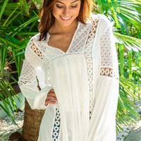 FRINGE: Hole Hearted Top-White