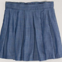 AEO 's Chambray Circle Skirt (Blue)