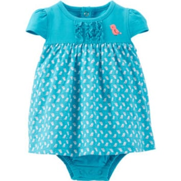 Walmart: Child of Mine by Carter's Newborn Girl Sunsuit