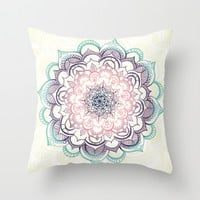Mermaid Medallion Throw Pillow by Tangerine-Tane