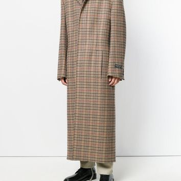 Vintage Plaid Overcoat by Balenciaga